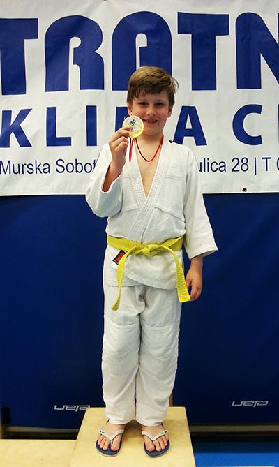 Anej Kladnik Volf zmagal v kat. -42kg (U10)