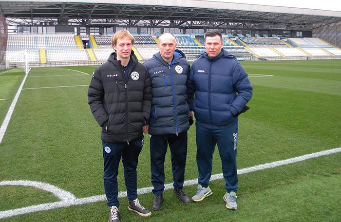 Strokovni štab u13 in u15 Nk Roltek Dob (od leve proti desni) Žan Cerar( trener u13), fizioterapet Sašo Kavčič in Nedo Miletič(trener u15)