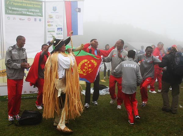 WCh2010-Eritrea team celbrating